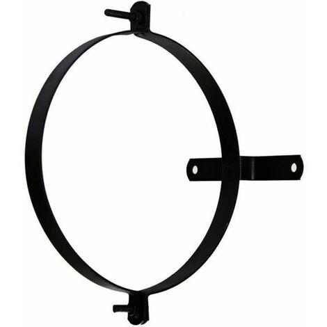 Abrazadera Tubo Estufa Pellet Vitrificado Con soporte 80 (2 piezas)