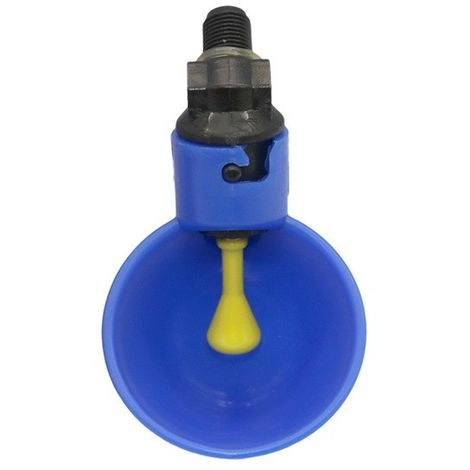 Abreuvoir à poulet avec à caille automatique système d'alimentation en eau de volaille la ferme des mamelons jaunes (bleu)