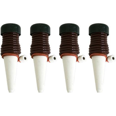 Abreuvoir automatique, abreuvoir a fleurs paresseux, goutteur, abreuvoir en ceramique, outil d'irrigation goutte a goutte 4 pieces