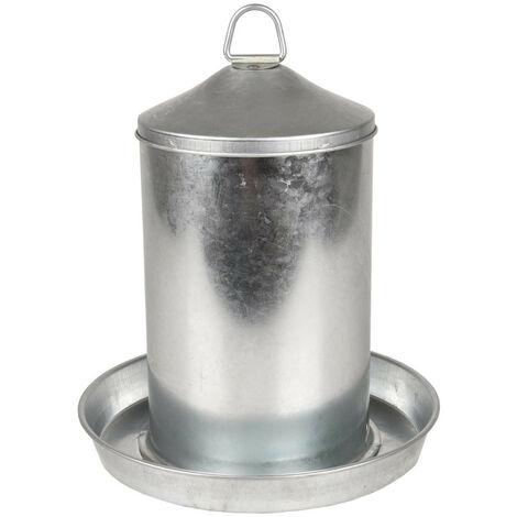 Abreuvoir, Dobby galvanisé, 4 litres environ, pour poules.