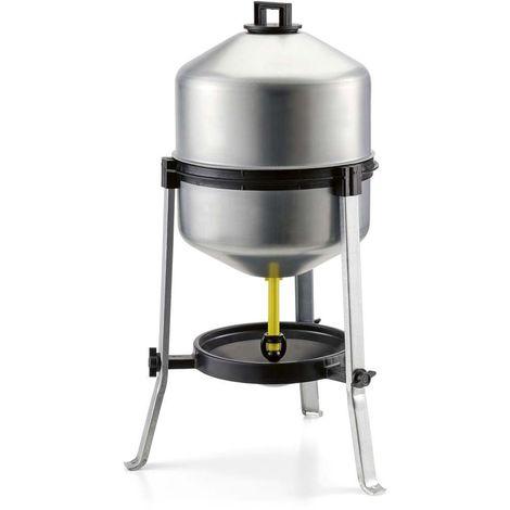 Abreuvoir en acier galvanisé 30 litres - Gris