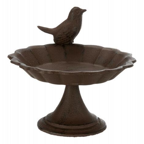 Abreuvoir/mangeoire ou baignoire oiseau en fonte