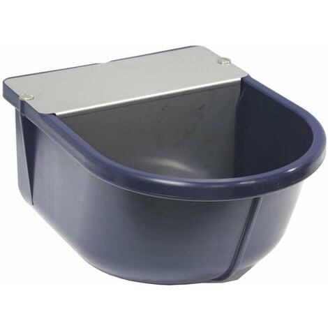 Abreuvoir pour chevaux en plastique ABS à niveau constant avec plaque en acier inoxydable et bouchon de nettoyage
