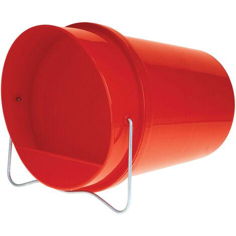 Abreuvoir seau plastique 6 litres rouge