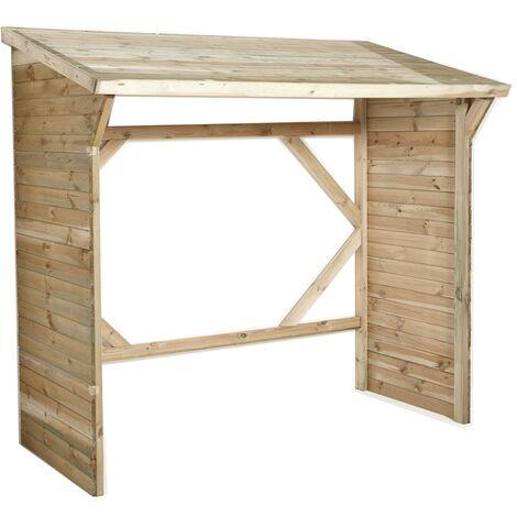 Abri à bûches en bois - 3 stères