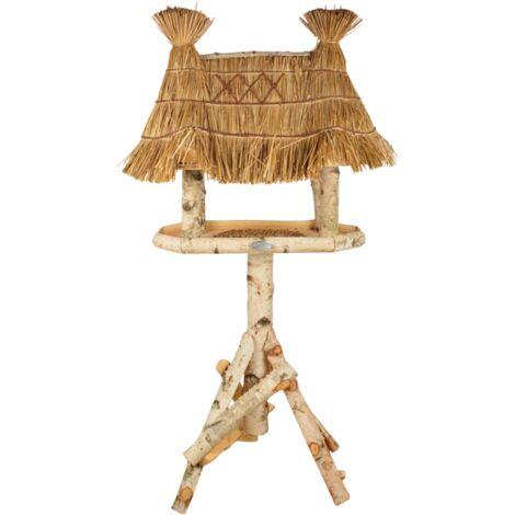 Abri à oiseaux en bois de bouleau - L 56 cm x l 81 cm x H 156 cm - Livraison gratuite