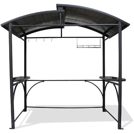 abri barbecue 2 40x1 5m en aluminium et polycarbonate. Black Bedroom Furniture Sets. Home Design Ideas