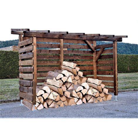 Abri bûches en bois |8 stères| Robuste