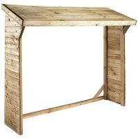 Abri bûches toit bois 2 stères