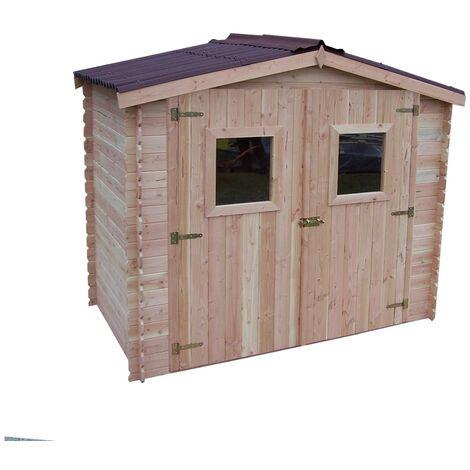 Abri DALIA madriers 20 mm sans plancher toit double pente 5,32 m²