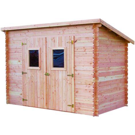 Abri DALMAT madriers Douglas 20 mm sans plancher, toit mono-pente 5,62 m²