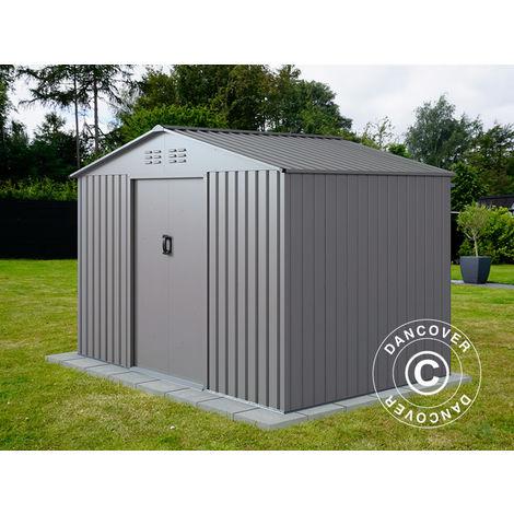 Abri de jardin 2,77x1,91x1,92m ProShed®, Aluminium Gris