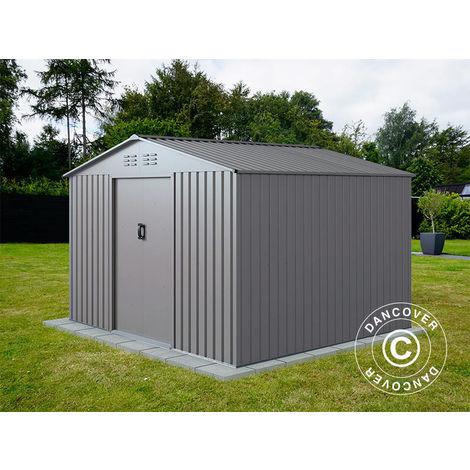 Abri de jardin 2,77x2,55x1,92m ProShed®, Aluminium Gris