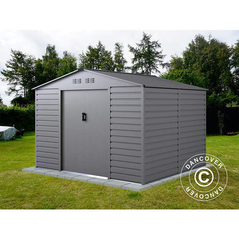 Abri de jardin 2,77x2,55x1,98m ProShed®, Aluminium Gris