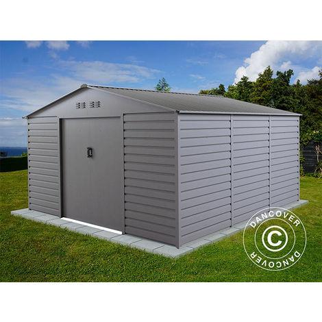 Abri de jardin 3,4x3,82x2,05m ProShed®, Aluminium Gris
