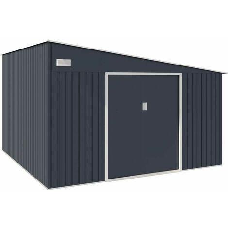 Abri de jardin acier 11,01 m2. avec kit dancrage inclus
