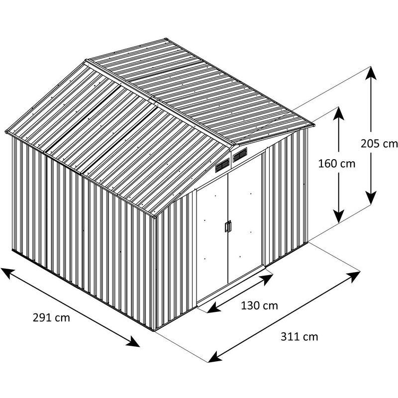 Abri De Jardin Acier Trigano 8 99 M2 Kit D Ancrage Inclus