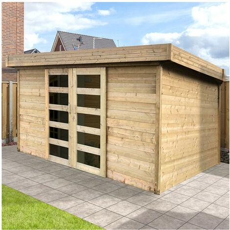 Abri de jardin Arhus - Option: Sans plancher
