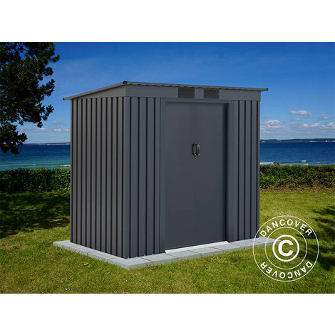 Abri de jardin avec toit plat 2,01x1,21x1,76m ProShed®, Anthracite