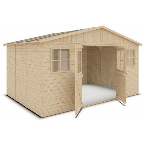 Abri de jardin bois 13 m2