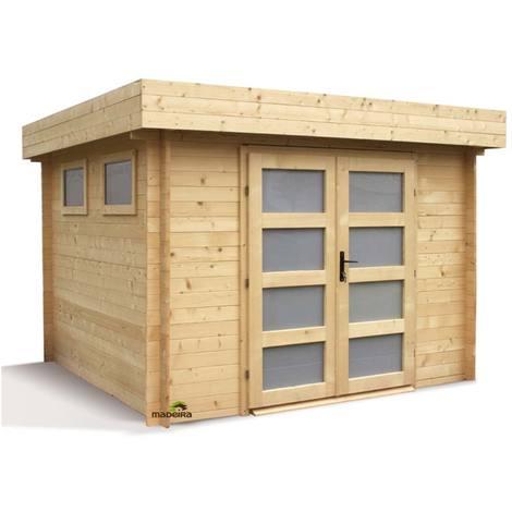 Abri de jardin bois Kivik 28 mm - 7,99 m²