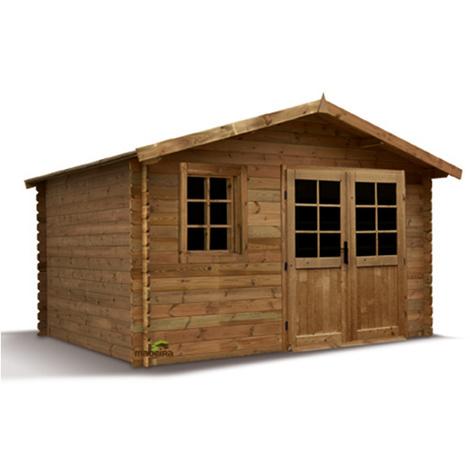 Abri de jardin bois traité Aloha 28 mm - 11,32 m² - 2289