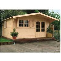 Abri de jardin Chamonix 20 m² - Option: Avec plancher