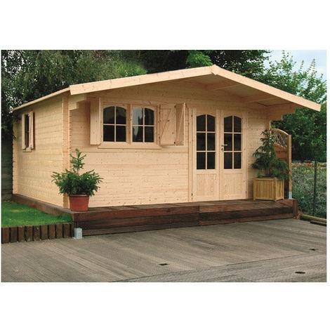 Abri de jardin Chamonix 20 m² - Option: Sans plancher