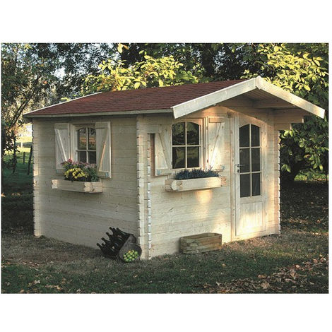Abri de jardin Chamonix 8 m² - Option: Sans plancher