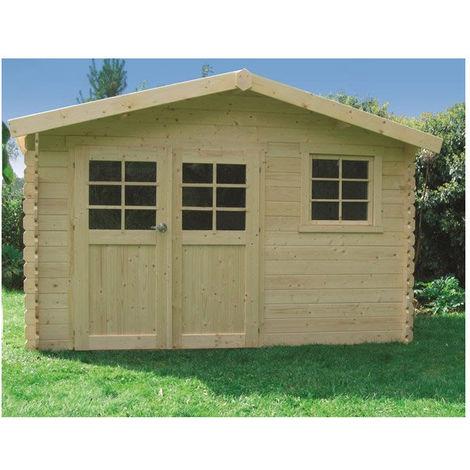 Abri de jardin Chimay - Option: Avec plancher - Traitement autoclave: Oui