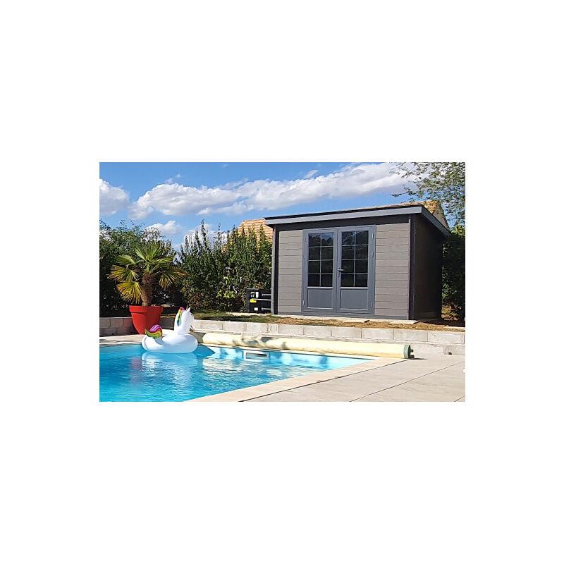 nouvelle arrivee ff5dc 7d608 Abri de jardin composite 3x3 toit plat contemporain