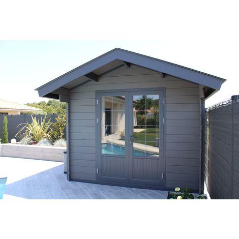 Abri de jardin composite 3x3 toit tradi 2 pentes