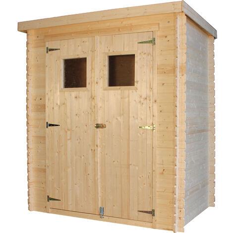"""main image of """"Abri de jardin en bois AVEC SOL TRAITÉ TIMBELA M308+M308G- Stockage extérieur l184xL128xH202 cm/1,81 m2 - Petit abri à outils, Local à vélos - Toit imperméable, fenêtres"""""""