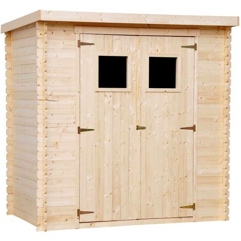 """main image of """"Abri de jardin en bois AVEC SOL TRAITÉ TIMBELA M311+M311G - Stockage extérieur l204xL142xH200cm//2.22m2- Petit abri à outils, Local à vélos - Toit imperméable, fenêtres"""""""