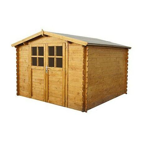 Abri de jardin en bois AZUR 9 m²