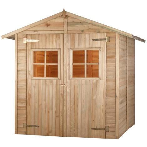 Abri de jardin en bois COMBLOUX traité autoclave 3,8 m2 - 12 mm