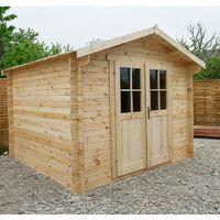 Abri de jardin en bois massif 9m² PLUS - madriers 28mm Gardy Shelter