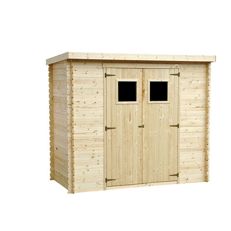 Abri de jardin en bois naturel jusqu'à 6,81 m2