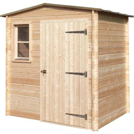 Abri de jardin en bois non traité Basic 3.36 m²
