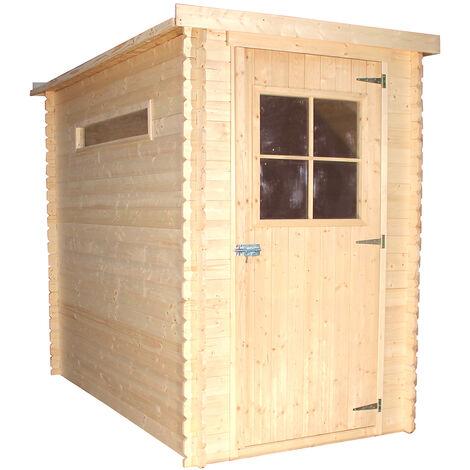 """main image of """"Abri de jardin en bois TIMBELA M306 - Stockage extérieur l239xL144xH198 cm/2.63 m2 - Petit abri à outils, Local à vélos - Toit imperméable, fenêtres"""""""