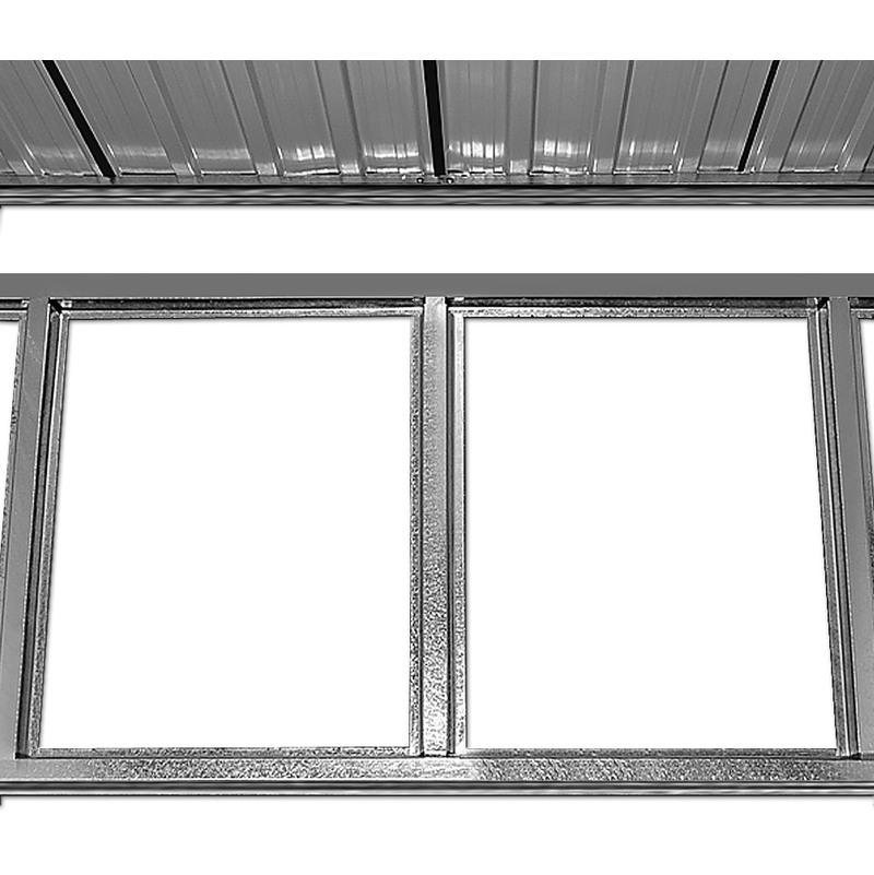Abri de jardin en métal 210x132x186cm Cabane/Remise de jardin ...