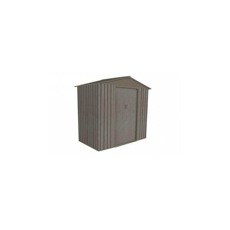 nouveau style 97d5c 9d3d0 Abri de jardin en métal aspect BOIS VIEILLI® - 2,43 m²