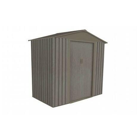 Abri de jardin en métal aspect BOIS VIEILLI® - 2,43 m²