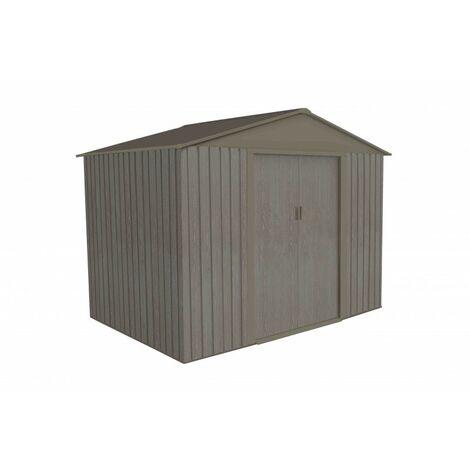 """main image of """"Abri de jardin en métal aspect BOIS VIEILLI - 4,8 m²"""""""