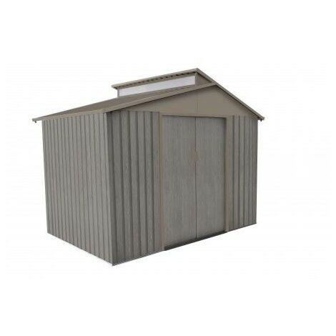 Abri de jardin en métal aspect BOIS VIEILLI® - 5,4 m²