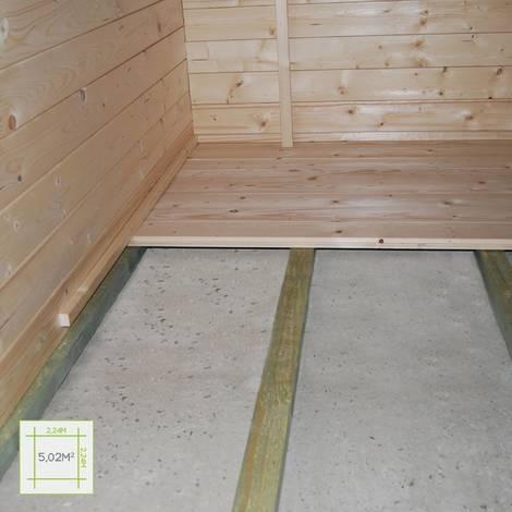 Colocación del suelo de la caseta