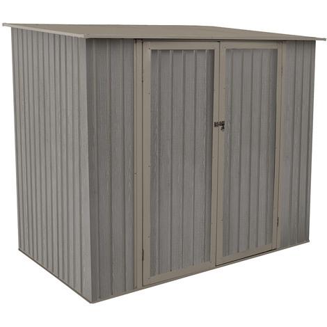 Abri de jardin métal aspect bois vieilli 75 - 3,31 m²- Chalet et ...