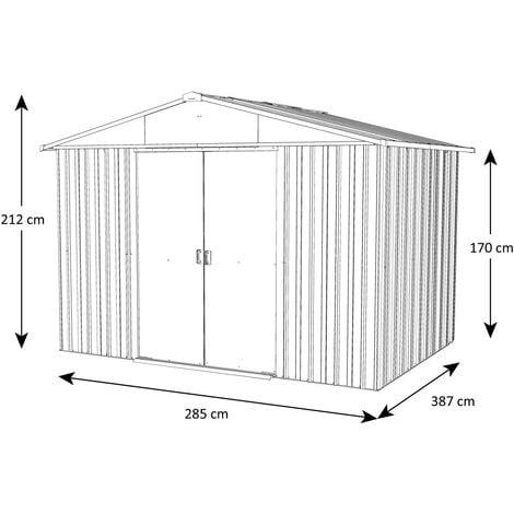"""main image of """"Abri de jardin métal aspect bois Yardmaster 11,03 m² + kit d'ancrage"""""""