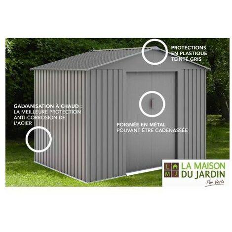Abri de jardin métal LMJ 4,8 m² - Galvanisé à chaud