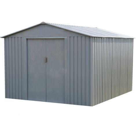 Abri de jardin métal LMJ - 7,9 m² - Galvanisé à chaud